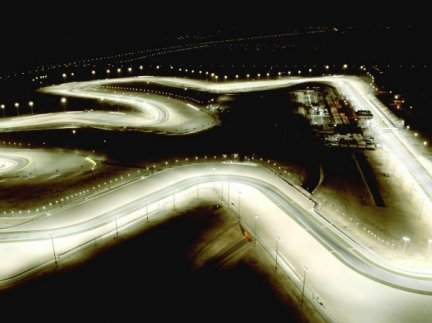 Losail circuit by night