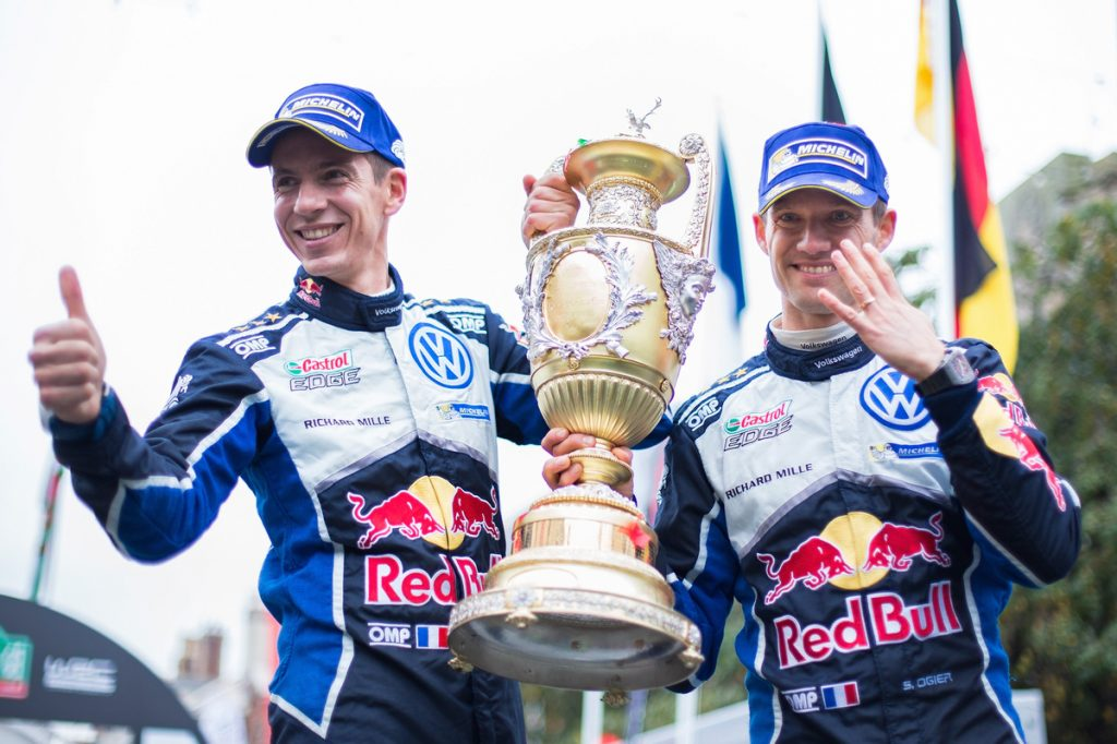 Julien Ingrassia (F), Sébastien Ogier (F) WRC Rally Great Britain 2016 Photo: Helena El Mokni